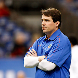 Jan 2, 2013; New Orleans, LA, USA; Florida Gators head coach Will Muschamp on the field prior to kickoff of the Sugar Bowl against the Louisville Cardinals at the Mercedes-Benz Superdome.  Mandatory Credit: Derick E. Hingle-USA TODAY Sports