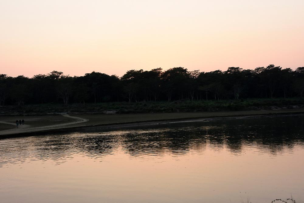 The river at Chitwan at sunset