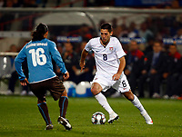 Clint Dempsey of USA and Fulham Mauro Camoranesi of Italy and Juventus FIFA Confederations Cup South Africa 2009 <br /> United States of America  v Italy at Loftus Versfeld  Stadium Tshwane/Pretoria South Africa<br /> 15/06/2009 Credit Colorsport / Kieran Galvin
