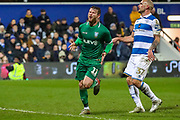 Goal! Sheffield Wednesday forward Sam Winnall (11) scores a goal and celebrates 2-0 during the The FA Cup match between Queens Park Rangers and Sheffield Wednesday at the Kiyan Prince Foundation Stadium, London, England on 24 January 2020.