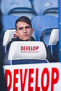 Denis Suarez of Arsenal (22) sat on the Arsenal bench during the Premier League match between Huddersfield Town and Arsenal at the John Smiths Stadium, Huddersfield, England on 9 February 2019.