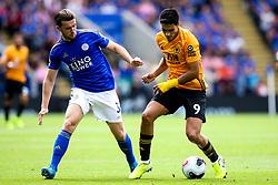 Raul Jimenez of Wolverhampton Wanderers takes on Ben Chilwell of Leicester City - Mandatory by-line: Robbie Stephenson/JMP - 11/08/2019 - FOOTBALL - King Power Stadium - Leicester, England - Leicester City v Wolverhampton Wanderers - Premier League