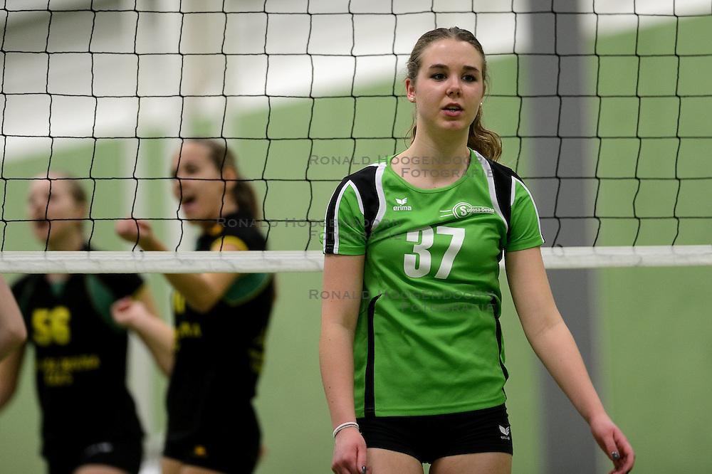 16-03-2013 VOLLEYBAL: FINALE NOJK JONGENS MEISJES A TEAMS EN MEISJES B TEAMS: WIJCHEN<br /> In sportcentrum Arcus werden de finales van de Nationale Open Jeugdkampioenschappen voor A teams jongens en meisjes en B teams meisjes gehouden / Prima Donna Kaas Huizen - Sudosa Desto<br /> &copy;2013-FotoHoogendoorn.nl
