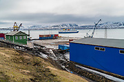 Barentsburg a Coal mining town, Russian coal mining settlement in Billefjorden, Spitsbergen, Norway