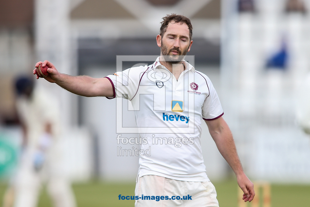 Steven Crook of Northamptonshire CCC during day two of the Friendly match at the County Ground, Northampton<br /> Picture by Andy Kearns/Focus Images Ltd 0781 864 4264<br /> 03/04/2017
