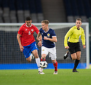 23rd March 2018, Hampden Park, Glasgow, Scotland; International Football Friendly, Scotland versus Costa Rica; Matt Ritchie of Scotland goes past Oscar Duarte of Costa Rica