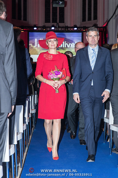 NLD/Den Bosch/20161201 - Koningin Maxima opent Jheronimus Academy of Data Science, (POOL)
