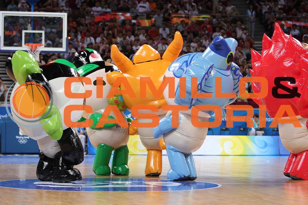 DESCRIZIONE : Beijing Pechino Olympic Games Olimpiadi 2008 Greece Angola <br /> GIOCATORE : Mascotte <br /> SQUADRA : <br /> EVENTO : Olympic Games Olimpiadi 2008 <br /> GARA : Grecia Angola Greece Angola <br /> DATA : 16/08/2008 <br /> CATEGORIA : <br /> SPORT : Pallacanestro <br /> AUTORE : Agenzia Ciamillo-Castoria/E.Castoria <br /> Galleria : Beijing Pechino Olympic Games Olimpiadi 2008 <br /> Fotonotizia : Beijing Pechino Olympic Games Olimpiadi 2008 Greece Angola <br /> Predefinita :
