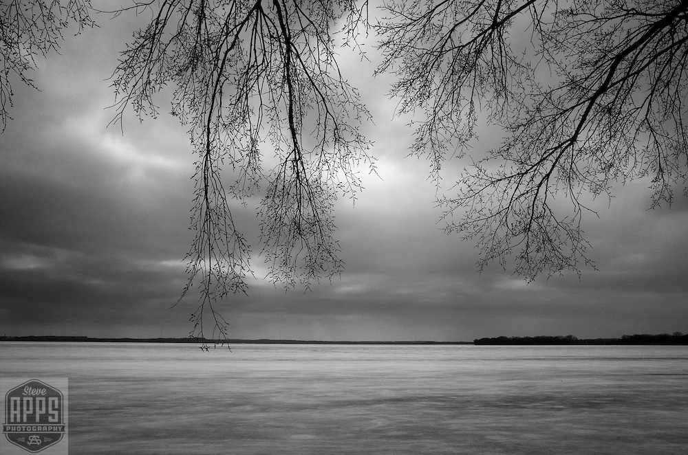 A frozen Lake Mendota in Madison, Wisconsin Saturday, March 4, 2017.