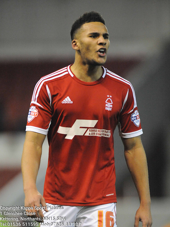 JAMAAL LASCELLES NOTTINGHAM FOREST, Nottingham Forest v Leicester City, City Ground Nottingham,  Sky Bet Championship, 19th Febuary 2014