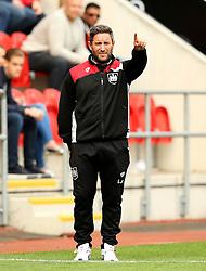 Bristol City head coach Lee Johnson points - Mandatory by-line: Matt McNulty/JMP - 10/09/2016 - FOOTBALL - Aesseal New York Stadium - Rotherham, England - Rotherham United v Bristol City - Sky Bet Championship