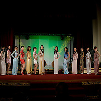Parrticipants attends the Miss Asia Europe beauty contest held in Budapest, Hungary, Saturday, 05. December 2009. ATTILA VOLGYI