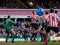 Photo: Glyn Thomas.<br />Birmingham City v Sunderland. The Barclays Premiership. 25/02/2006.<br />Birmingham's Emile Heskey (3rd, L) heads his team into a 1-0 lead.