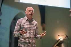 The Action Porty group leading the campaign for the community right to buy of Bellfield Church and Halls in Portobello held an open meeting last night in Portobello and Joppa Parish Church. Pictured Richard Heggie from consultants Urban Animation<br /> &copy; Jon Davey/ EEm