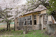 Photo shows a disused school in the Masutomi district of Hokuto City, Yamanashi Prefecture on 02  May 2012. Masutomi, like many rural villages in Japan, is rapidly depopulating, though efforts by local NPOs and government initiatives are attempting to buck that trend..Photographer: Robert Gilhooly