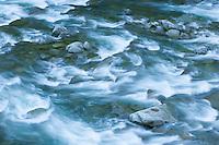 Detail of flowing river water over rocks&#xA;<br />