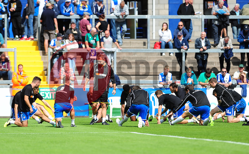 Bristol Rovers warm up - Photo mandatory by-line: Neil Brookman - Mobile: 07966 386802 23/08/2014 - SPORT - FOOTBALL - Bristol - Memorial Stadium - Bristol Rovers v AFC Telford - Vanarama Football Conference