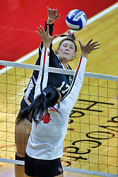 BLOOMINGTON, IL - October 12: Peyton McCarthy during a college Women's volleyball match between the ISU Redbirds and the Valparaiso Crusaders on October 12 2018 at Illinois State University in Bloomington, IL. (Photo by Alan Look)