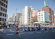 Swedish runner  Isabellah Andersson runs in Asakusa during the 10th Tokyo Marathon took place on a fine spring day in Tokyo Japan. Sunday February 28th 2016. Thirty-six thousand runners took part with Ethiopian,  Feyisa Lilesa winning the  men's competition and  Kenyan, Helah Kiprop victorious in the women's race.