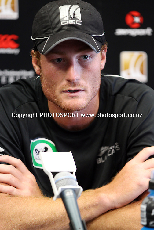 Martin Guptill during a press conference at the Queenstown Events Centre. 2nd ODI, Black Caps v Pakistan, One Day International Cricket. Queenstown, New Zealand. Wednesday 26  January 2011. Photo: Andrew Cornaga/photosport.co.nz