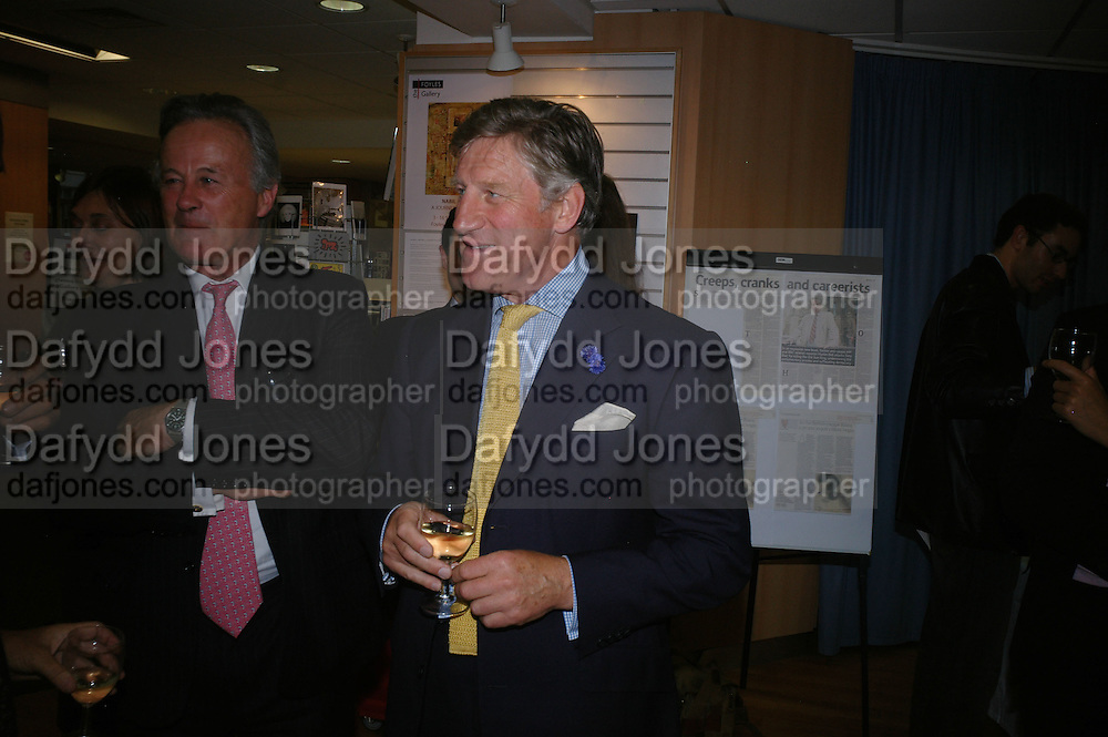 General Andrew Cummings and General Arthur Denaro, Launch of Martin Bell's ' The Truth That Sticks: New Labour's Breach Of Trust.' Foyles. London. 5 September 2007.  -DO NOT ARCHIVE-© Copyright Photograph by Dafydd Jones. 248 Clapham Rd. London SW9 0PZ. Tel 0207 820 0771. www.dafjones.com.