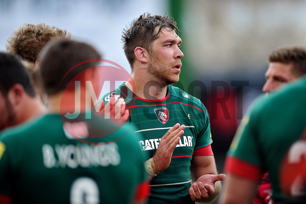 Graham Kitchener of Leicester Tigers applauds the London Welsh team off the field - Photo mandatory by-line: Patrick Khachfe/JMP - Mobile: 07966 386802 25/04/2015 - SPORT - RUGBY UNION - Leicester - Welford Road - Leicester Tigers v London Welsh - Aviva Premiership