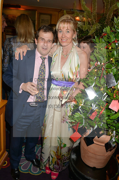 EDWARD & VICTORIA BONHAM-CARTER at the Bedales Art & Design Party hosted by David Linley at Annabel's, 44 Berkeley Square, London on 30th June 2015.