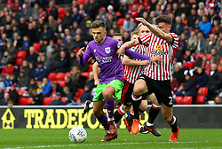Jamie Paterson of Bristol City takes on Billy Jones of Sunderland - Mandatory by-line: Robbie Stephenson/JMP - 28/10/2017 - FOOTBALL - Stadium of Light - Sunderland, England - Sunderland v Bristol City - Sky Bet Championship