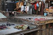 India, Delhi, Street dwellers sleeping outdoors