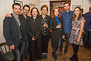 Gethin Anthony, Robert Lonsdale, Nancy crane, Kate Fahy, Laura Rogers, Michael Fox and Alexandra Dowling (then cast) - Press night party for A Lie of the Mind by Sam Shepard a new production by Defibrillator at the Southwark Playhouse, London.