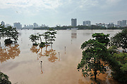 NANNING, CHINA - SEPTEMBER 21: (CHINA OUT) <br /> <br /> Min Sheng Square gets submerged in water during a flood on September 21, 2014 in Nanning, Guangxi province of China. A flood hit Nanning on Sunday.<br /> ©Exclusivepix