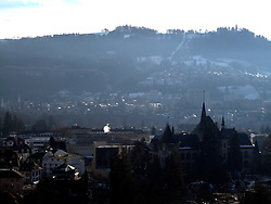 SWITZERLAND BERN 7JAN11 - View over the rooftops of Bern city centre from the Bern Muenster at a height of about 70 metres...jre/Photo by Jiri Rezac..© Jiri Rezac 2011