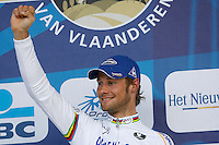 Boonen on the podium