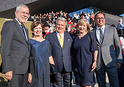 04.07.2019, Festspielhaus, Erl, AUT, Tiroler Festspiele Erl, Eröffnung der Sommersaison 2019/20, im Bild v.l. Bundespräsident Alexander Van der Bellen, Doris Schmidauer, Festspielpräsident Hans Peter Haselsteiner, Landesrätin Beate Palfrader, BGM Heinrich Ginther // f.l. federal president of Austria Alexander Van der Bellen Doris Schmidauer Festival President Hans Peter Haselsteiner Beate Palfrader Major Heinrich Ginther during the Tyrolean festival Erl opening of the summer season 2019/20 at the Festspielhaus in Erl, Austria on 2019/07/04. EXPA Pictures © 2019, PhotoCredit: EXPA/ Johann Groder