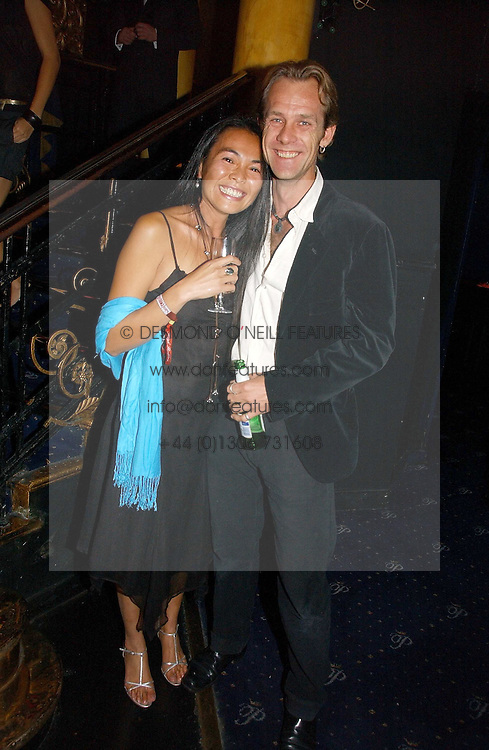 JOTH and SONIA SHAKERLEY, he is the son of Lady Elizabeth Anson at a Lonsdale Supper Club party held at the Cafe de Paris, Coventry Street, London on 28th September 2006.<br />