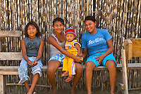Kuna Indian children in their village on Corbisky Island, San Blas Islands (Kuna Yala), Caribbean Sea, Panama
