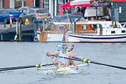 Henley Royal Regatta, 3-7 July 2019. Sydney Rowing Club, Australia, celebrate, as they crossed the Finish Line, to win, the Wyfold Challenge Cup, Royal Henley Peace Regatta Centenary, 1919-2019. Henley on Thames.<br /> <br /> <br /> <br /> [Mandatory Credit: Patrick WHITE/Intersport Images], 7, 07/07/2019,  11:37:03
