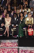 Cristina Ricci and Puff Daddy  ( Sean Combs.0 amongst the front row at the Atelier Versace show, Theatre National de Chaillot. Paris. © Copyright Photograph by Dafydd Jones 66 Stockwell Park Rd. London SW9 0DA Tel 020 7733 0108 www.dafjones.com