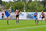 Goal - Aaron Martin (5) of Exeter City scores a goal to make the score 5-1 during the EFL Sky Bet League 2 match between Exeter City and Notts County at St James' Park, Exeter, England on 8 September 2018.