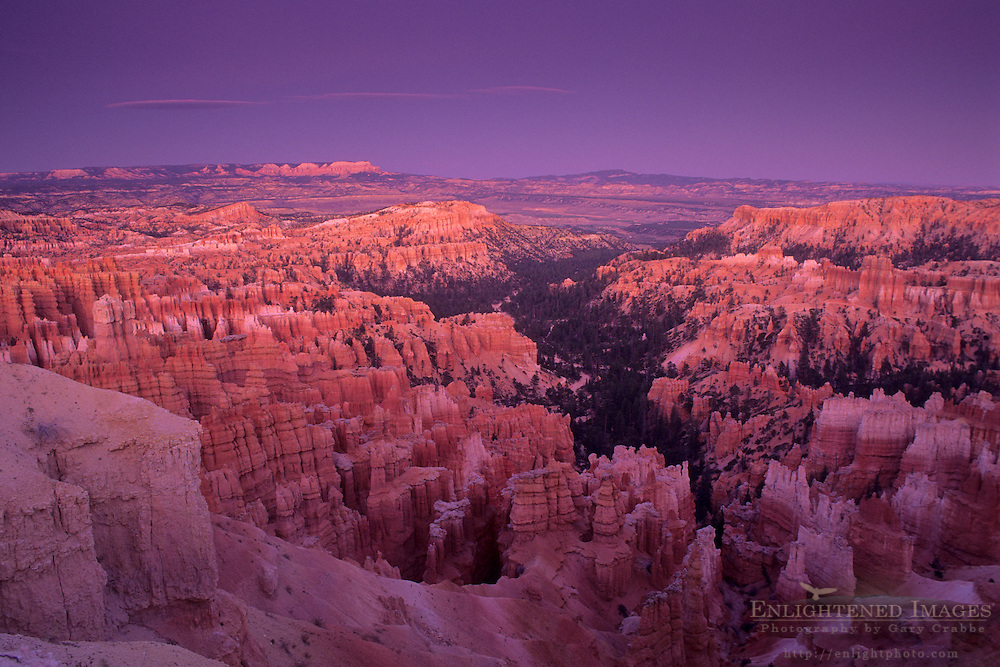 Evening light over Bryce Canyon Bryce Canyon National Park, UTAH
