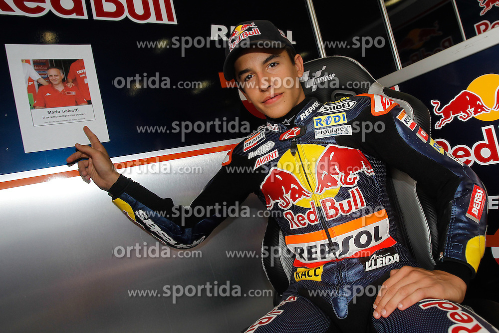 13.08.2010, Brünn, CKZ, MotoGP, Brno, im Bild Marc Marquez - Red bull Derbi team remember the dead of Mario Galeotti. EXPA Pictures © 2010, PhotoCredit: EXPA/ InsideFoto/ Semedia +++++ ATTENTION - FOR AUSTRIA AND SLOVENIA CLIENT ONLY +++++.