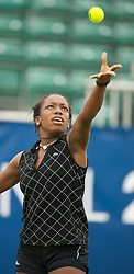 LIVERPOOL, ENGLAND - Thursday, June 21, 2012: Sachia Vickery (USA) during the opening day of the Medicash Liverpool International Tennis Tournament at Calderstones Park. (Pic by David Rawcliffe/Propaganda)