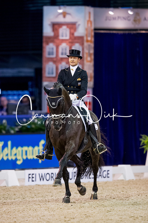 Gal Edward, NED, Glock's Voice<br /> FEI World Cup Dressage - Grand Prix<br /> Jumping Amsterdam 2017<br /> &copy; Hippo Foto - Leanjo de Koster<br /> 27/01/17