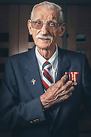 Portrait of retired army veteran Bob Kohler photographed for OC Metro/Register at St. Thomas More Parish in Irvine, Calif. on 10/28/13. Photo by Robert Zaleski/rzcreative.com