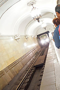 Novoslobodskaya Metro Station, Moscow, Russian Federation