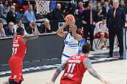 Landry Marcus, EA7 Emporio Armani Milano vs Germani Basket Brescia LBA serie A 4^ giornata di ritorno stagione 2016/2017 Mediolanum Forum Assago, Milano 12/02/2017