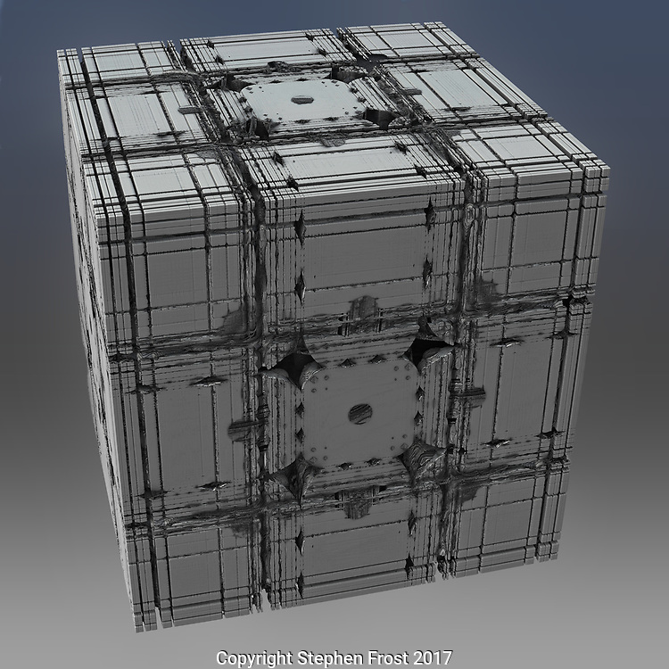 Silver box on blue/grey background.<br />