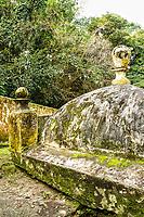 Fundos de construção conhecido como Beco da Carioca, construído em 1840. São José, Santa Catarina, Brasil. / Detail of a building known as Beco da Carioca, built in 1840. Sao Jose, Santa Catarina, Brazil.