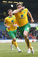 Oldham - Saturday February 26th, 2010 :  Grant Holt of Norwich City scores his sides opening goal of the game and celebrates during the Coca Cola League One match at Boundary Park, Oldham. (Pic by Paul Chesterton/Focus Images)..