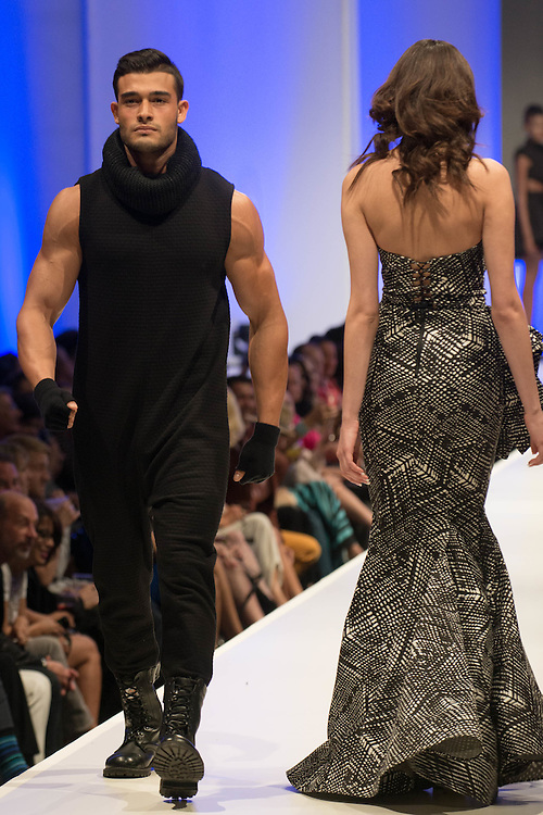 "Fashion designer Michael Costello, from the hit Bravo TV show ""Project Runway"" presents his newest collection at Fashion Week El Paseo in Palm Desert, California. Photos by Tiffany L. Clark"